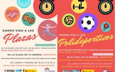 «Dando Vida» retoma la actividad en las plazas y polideportivos