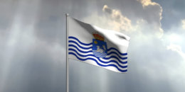 Bandera ondeando San Juan de La Rambla
