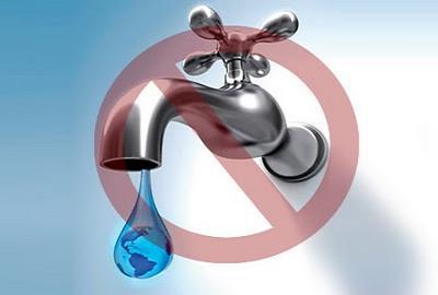 Corte de agua en San Juan y Las Aguas