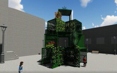 San Juan de la Rambla innova convirtiendo los árboles de Navidad en jardines verticales de 100 metros cuadrados