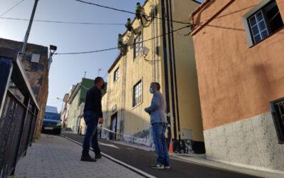 Comienzan los trabajos  de mejora de la fachada de la Casa Amarilla de San José