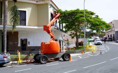 Trabajos de reparación de la fachada del Ayuntamiento